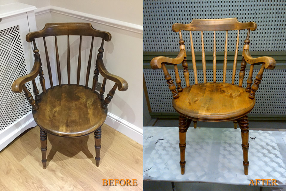 03-03-2015 | Victorian Kitchen Chair Restoration - Home Comforts UK - French Polishers London - Floor Sanding - Antique Furniture